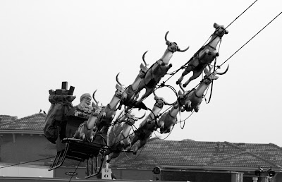 The Grove Santa Sleigh in mono
