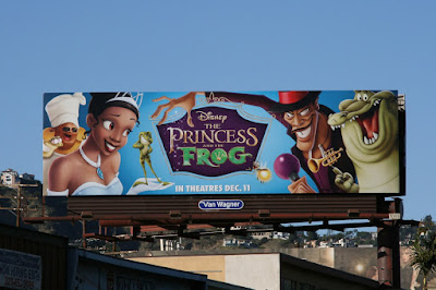 Disney Princess and the Frog billboard