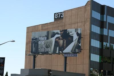 Power fragrance male model billboard