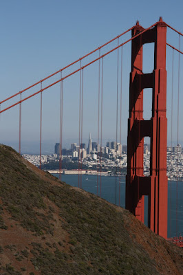 San Francisco through Golden Gate Bridge