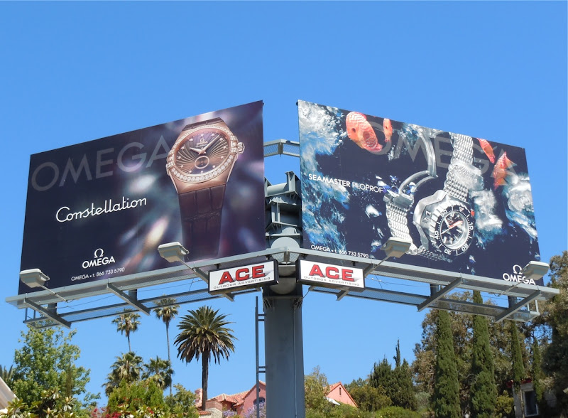Omega Watch billboards