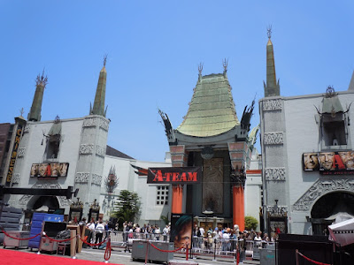 A-Team movie premiere set-up Los Angeles