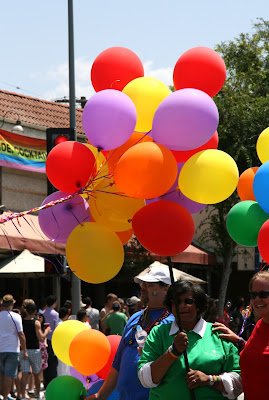 West Hollywood Pride Parade balloons 2010