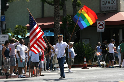 West Hollywood Pride Parade flags