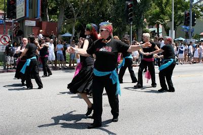 Gay Ballroom dancers WEHO Pride Parade 2010
