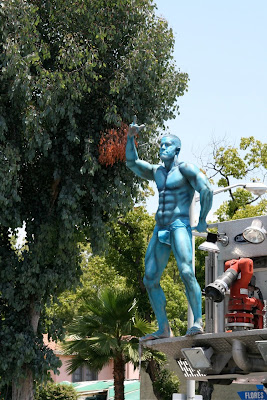 Blue muscle guy LA Gay Pride 2010