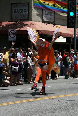 Sister of Perpetual Indulgence fan dancer LA Pride 2010
