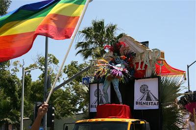 Bienestar Aztec dancer LA Pride 2010