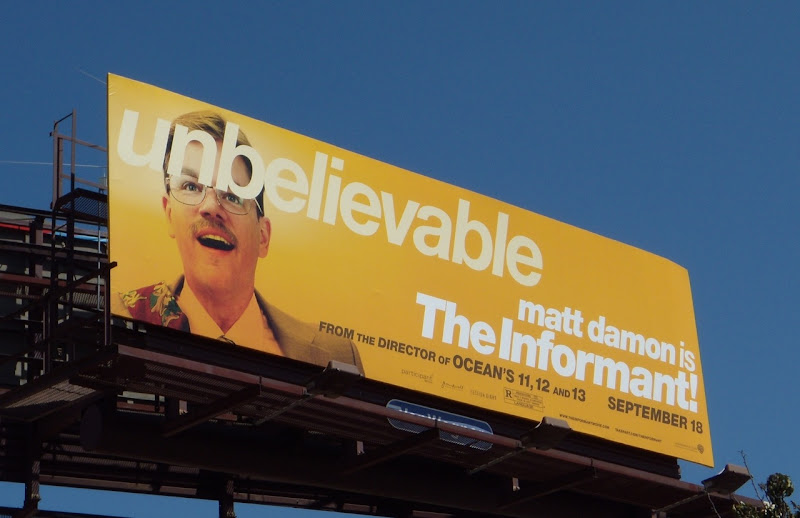 Matt Damon The Informant movie billboard