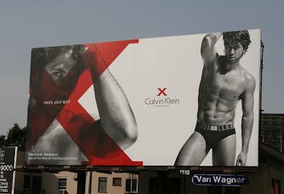 Fernando Verdasco Calvin Klein X billboard