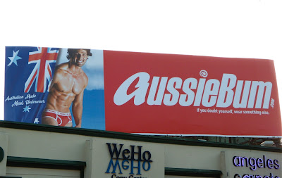 Hot AussieBum male model billboard