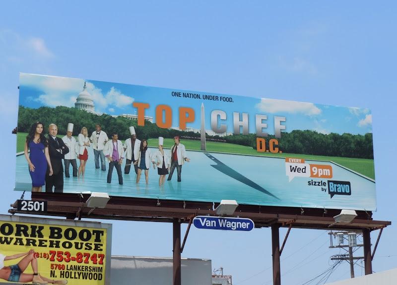 Top Chef DC TV billboard