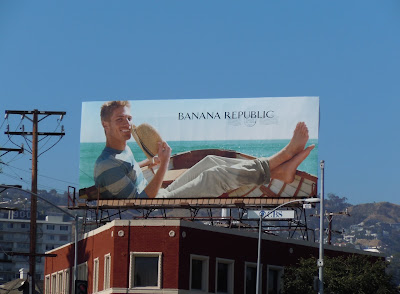 Banana Republic male model fashion billboard