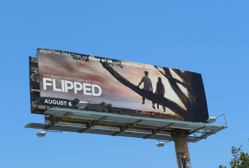 Flipped movie billboard