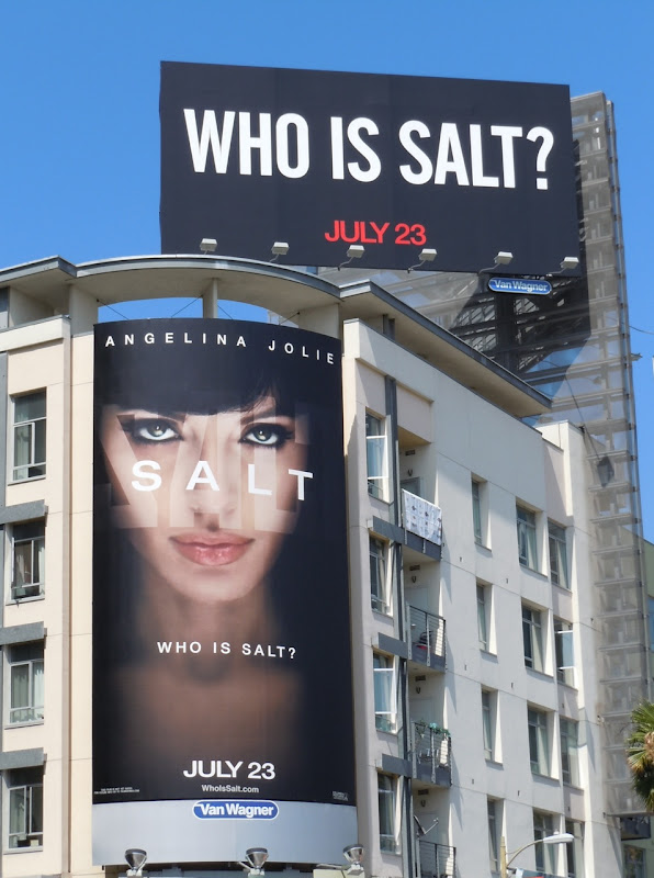 Who is Salt movie billboards