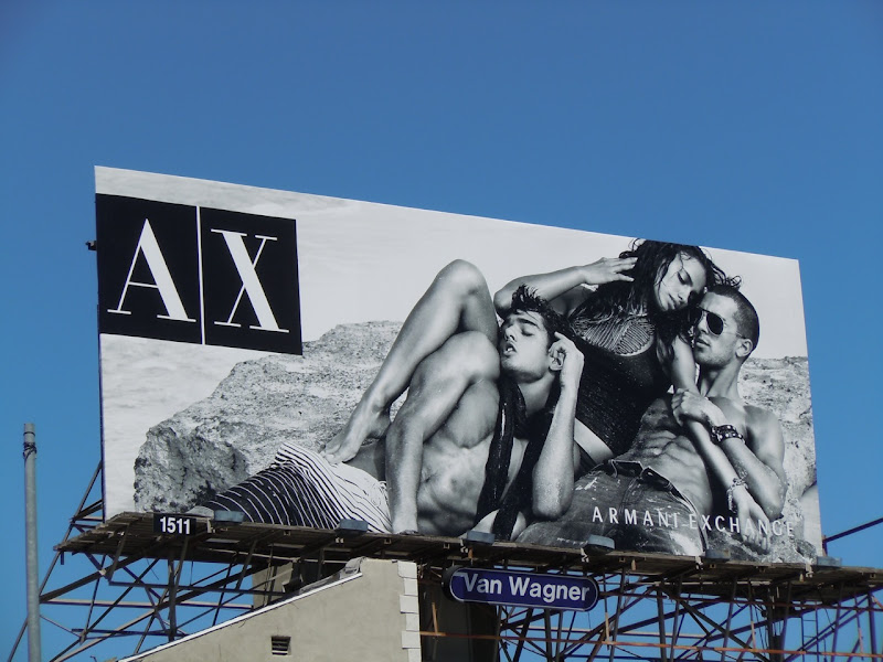 Hot AX male model fashion billboard