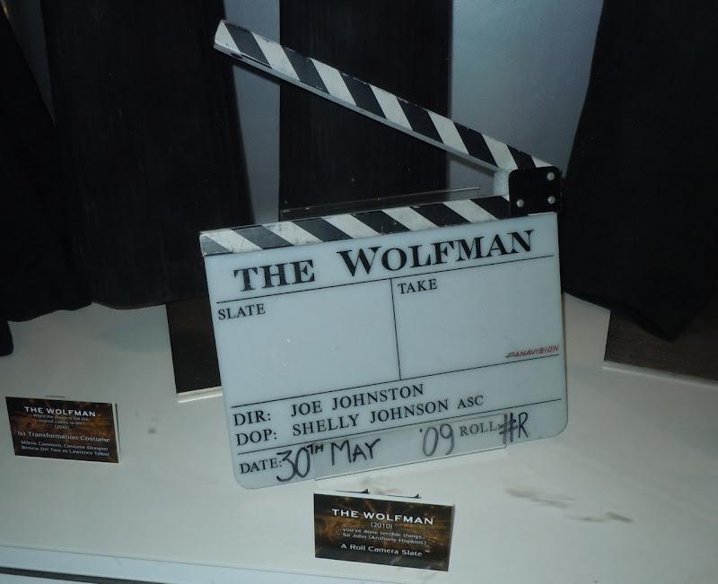 The Wolfman movie camera slate