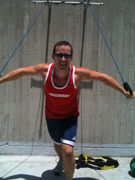 Jason in Hollywood training