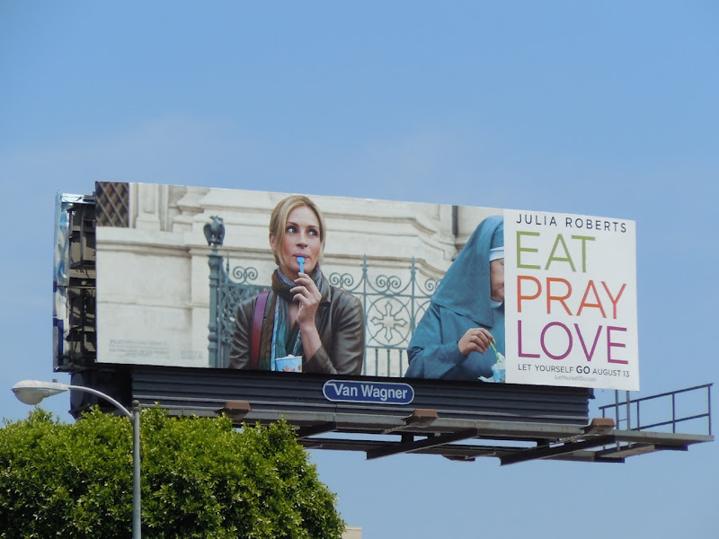Julia Roberts Eat Pray Love movie billboard