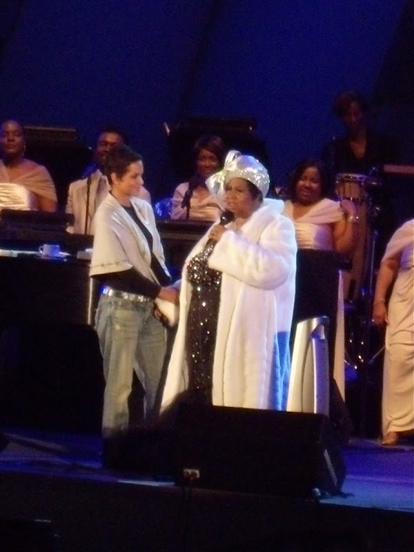 Halle Berry and Aretha Franklin Hollywood Bowl