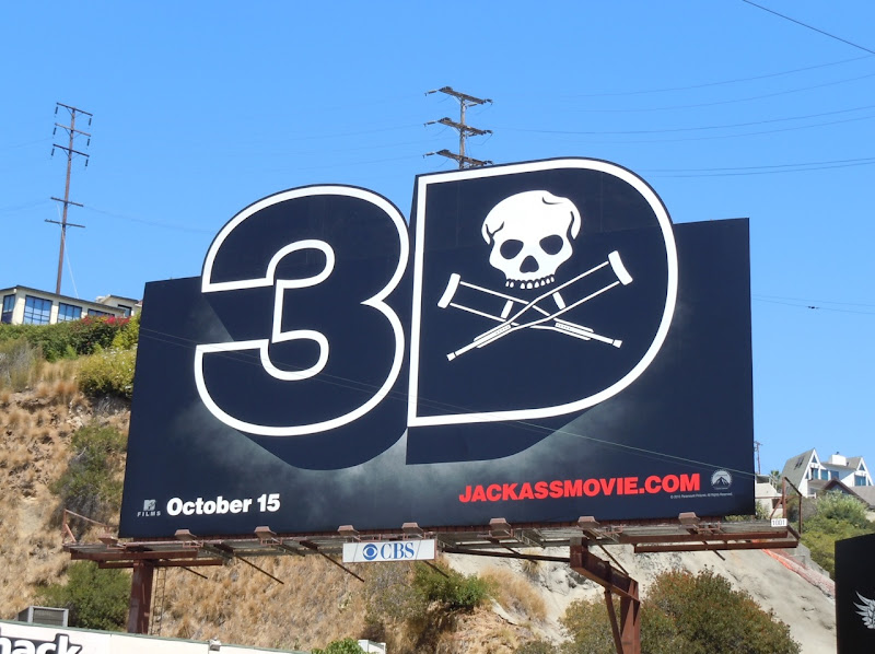 Jackass 3D movie billboard