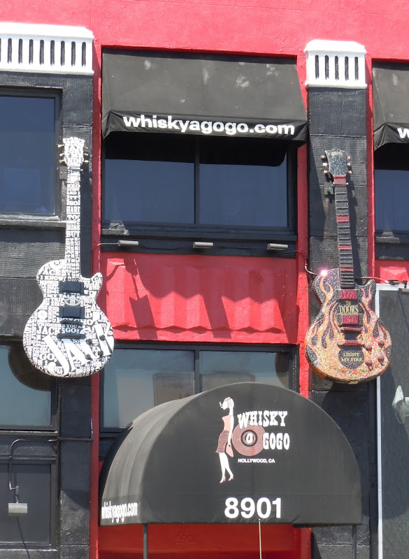 Whisky A Go Go guitar sculptures