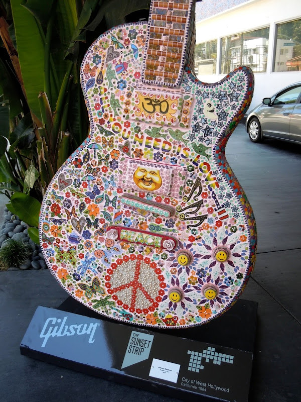 Julianna Martinez Summer of Love Guitar sculpture