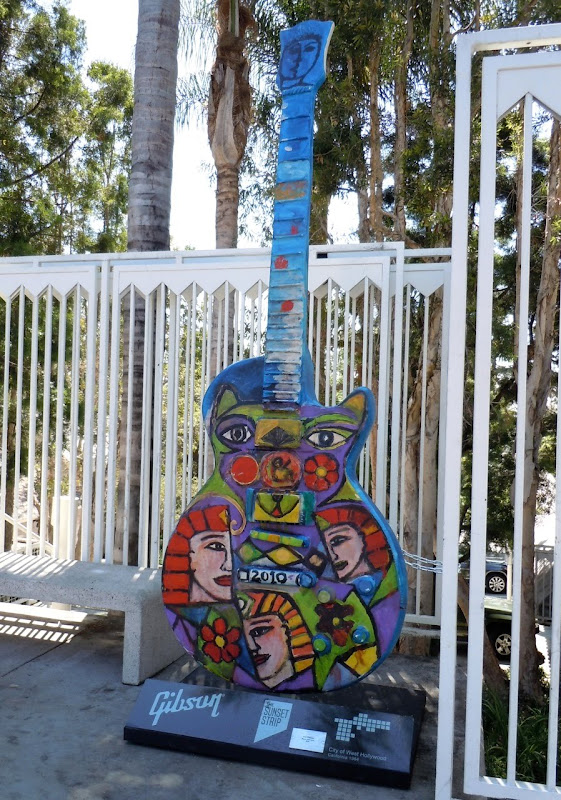 Mystic Musicians Guitar sculpture Sunset Strip