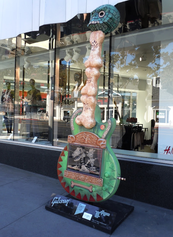 Oingo Boingo Guitar sculpture Sunset Strip