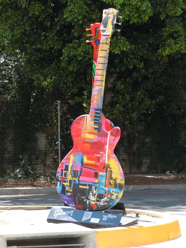 Opus 13 Guitar sculpture Sunset Strip