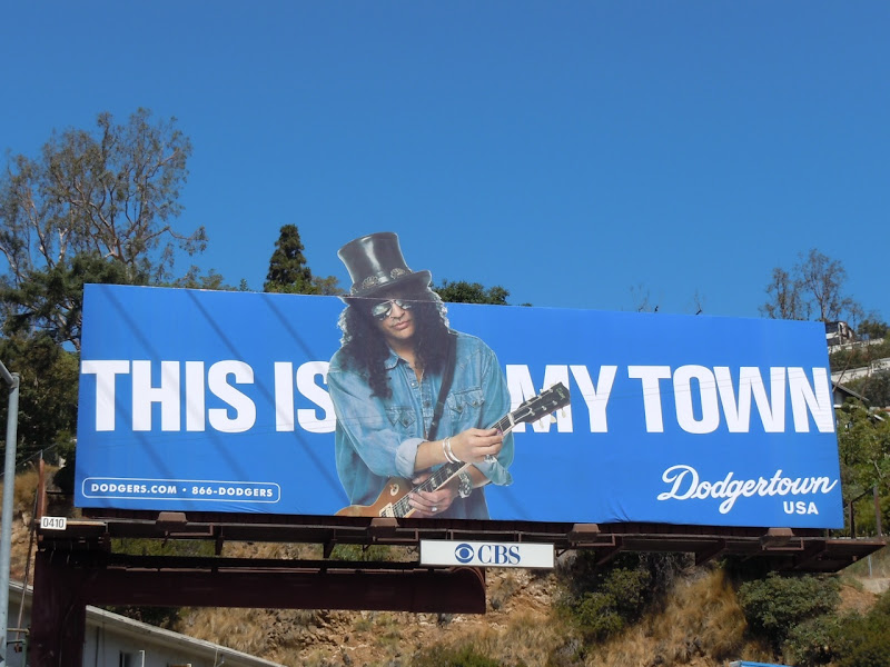 Slash Dodgertown billboard