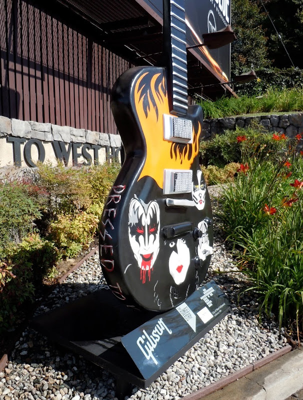Dressed to Kill Kiss Guitar sculpture