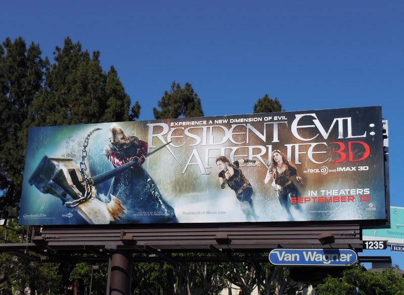 Resident Evil Afterlife billboard