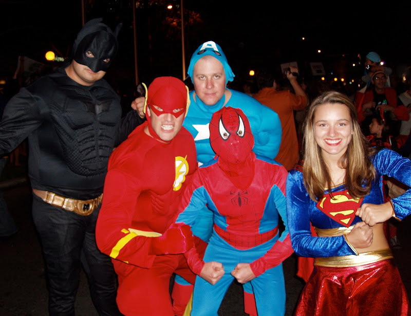 Superhero Halloween costumes 2008