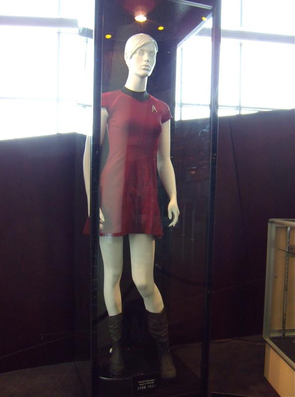 Female red Star Trek uniform