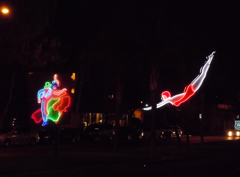 West Hollywood Route 66 Lights at night