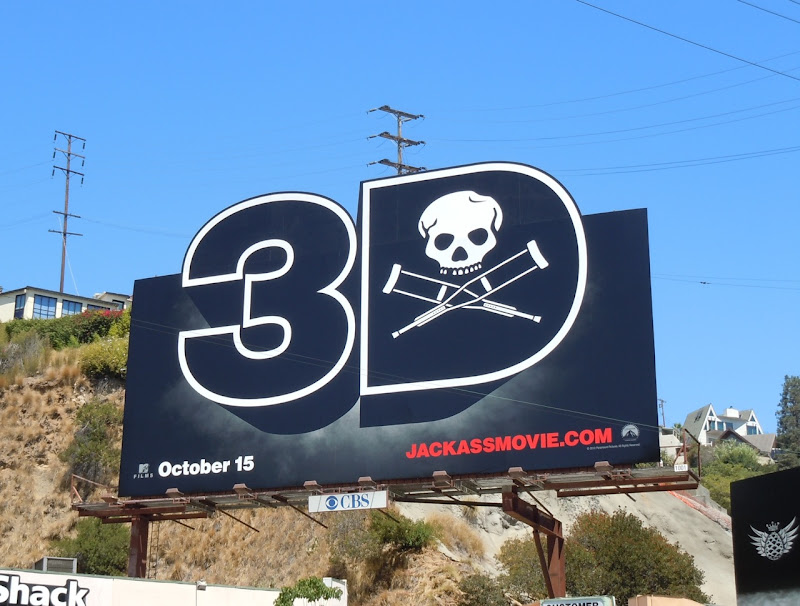 Jackass 3D film billboard