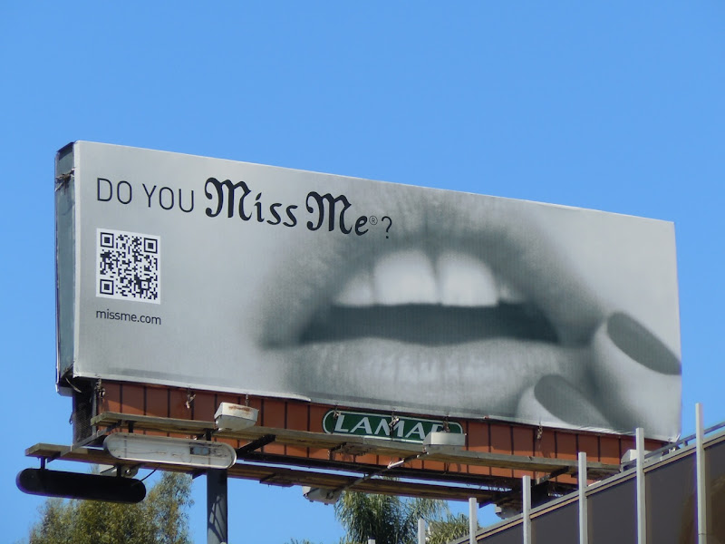 Miss Me Lips fashion billboard
