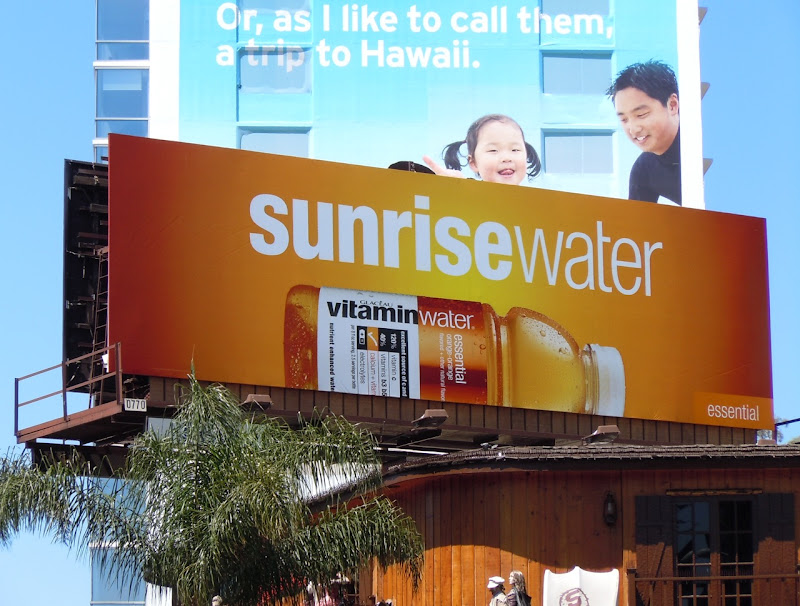 Sunrise Vitamin Water billboard
