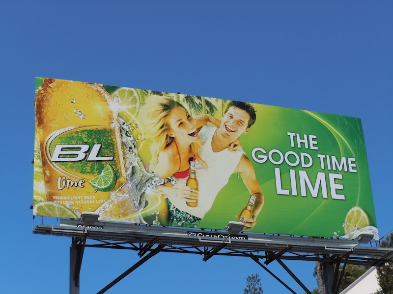 BL Lime drink billboard
