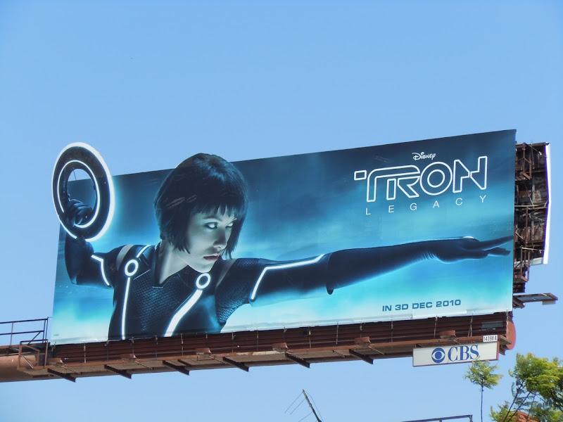Olivia Wilde Quorra Tron Legacy billboard