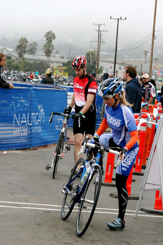 Luke Macfarlane cycles Malibu Triathlon