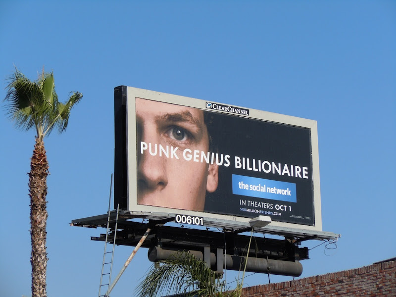 Genius Billionaire Social Network movie billboard