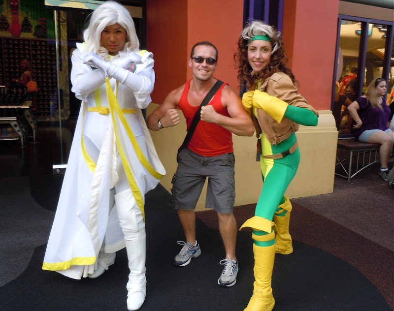 X-Men Storm, Jason and Rogue Universal Studios