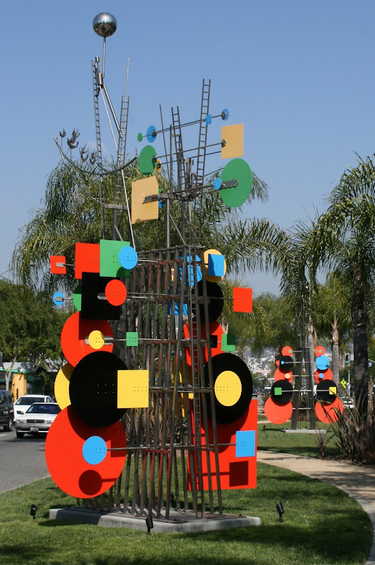 WEHO Peter Shire geometric sculptures
