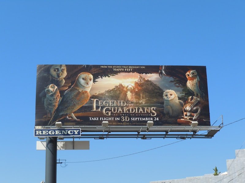 Legend of the Guardians movie billboard