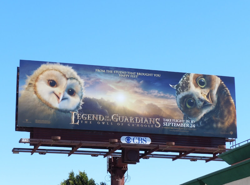 Legend of the Guardians owlet billboard