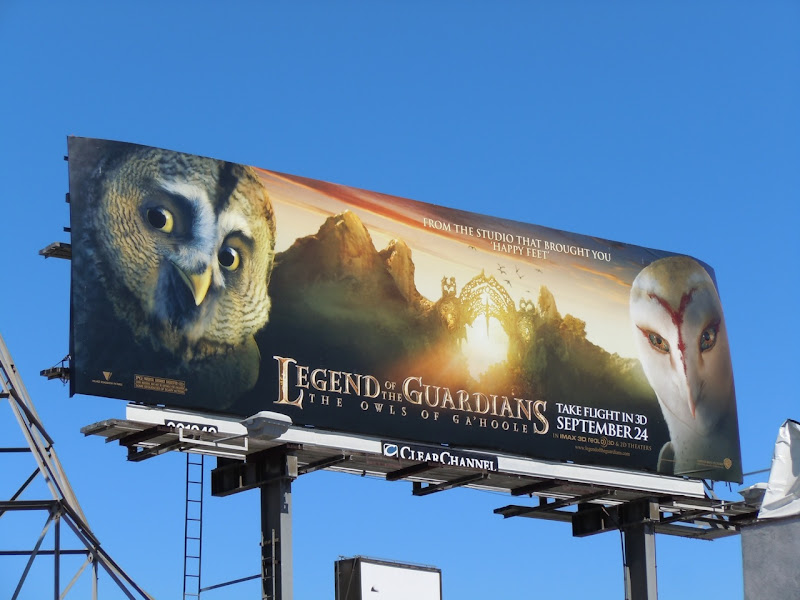 Legend of the Guardians film billboard
