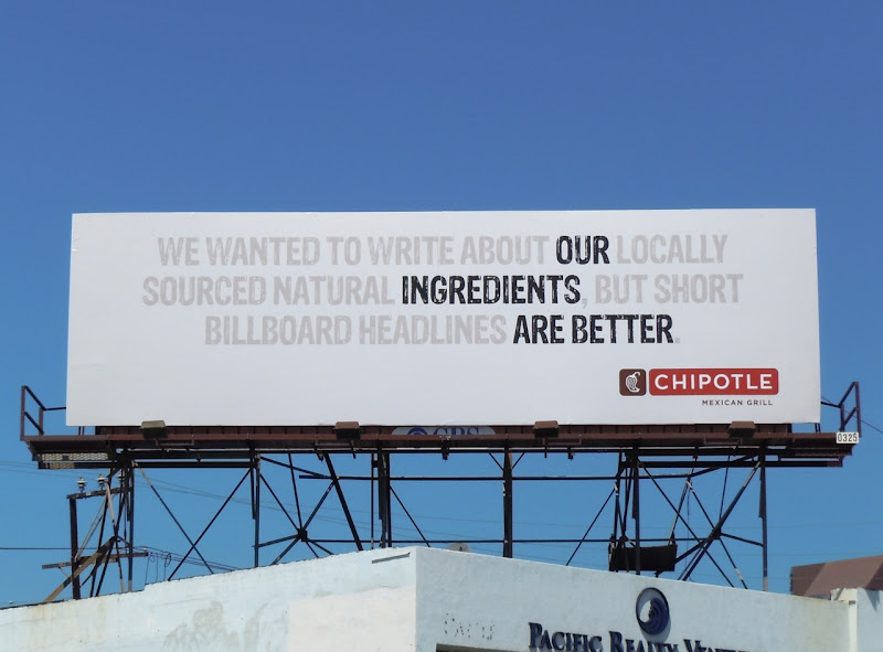 Chipotle ingredients are better billboard