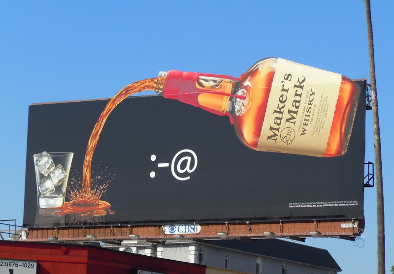 Maker's Mark bottle billboard